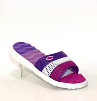 Силиконовые шлёпанцы с перфорацией для девочек малинового цвета 30-35 р