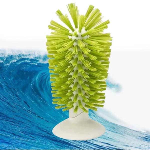Щетка-ершик для мытья стаканов и рюмок в силиконовой присоске, 16 см