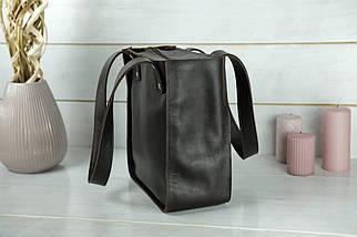 Жіночий шкіряний шоппер Даллас. натуральна Гладка шкіра, колір коричневый, відтінок Шоколад, фото 2