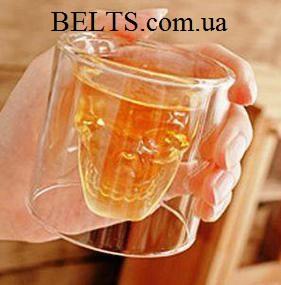 Мужской подарок – стакан с черепом для крепких напитков Doomed (бокал, стакан-шот Думед)