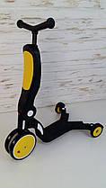 Детский трехколесный самокат 3 в 1, Самокат-беговел Tilly, Yellow Желтый GS-0057