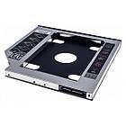 Адаптер Grand-X HDD 2.5 у відділ приводу ноутбука SATA/SATA3 Slim 9,5 mm (HDC-24C), фото 2