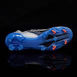 Бутсы Adidas X Ghosted.1 FG white/blue (39-45), фото 7