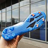 Бутси Adidas X Ghosted.1 FG white/blue (39-45), фото 2