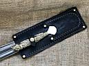 """Подарункові шампура ручної роботи """"Дикі звірі"""" з вилкою для зняття м'яса, в шкіряному сагайдаку, фото 4"""