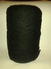 100% акрил, пряжа черного цвета, вес 1.420
