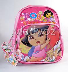 Детский рюкзак дошкольный для девочки с Дорой Даша путешественница розовый