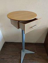 Стол кофейный стойка с ящиком на ножке
