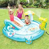 Дитячий надувний ігровий центр Intex 57129 Аллиигатор, фото 5