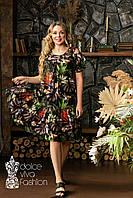 Літнє плаття великий розмір 46-56, фото 1
