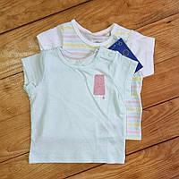 Набор футболок для девочки из 2 штук, рост 50/56, цвет мятный