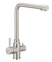 Смеситель для кухни с выходом для питьевой воды MIXXUS SUS 021 кухонный кран на мойку нержавеющая сталь