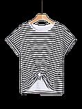 Женская укороченная футболка тельняшка, фото 3