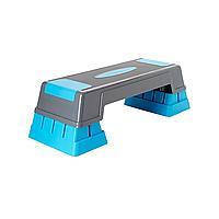 Степ-платформа для фитнеса и аэробики Live Up Для похудения 3 уровня высоты Полипропилен Серый (LS3168C)