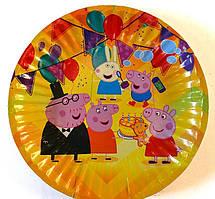 """Тарелка одноразовая с рисунком 10 штук,""""Свинка пеппа"""""""