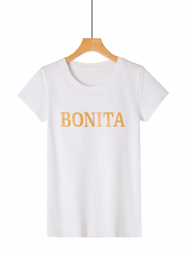 Жіноча біла футболка BONITA