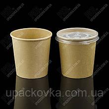 Емкость суповая из БУМАГИ КРАФТ/КРАФТ с крышкой, 500 мл, 555027
