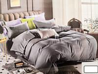 Комплект постельного белья двуспальный PERFUME коттон (29463) Темно серый