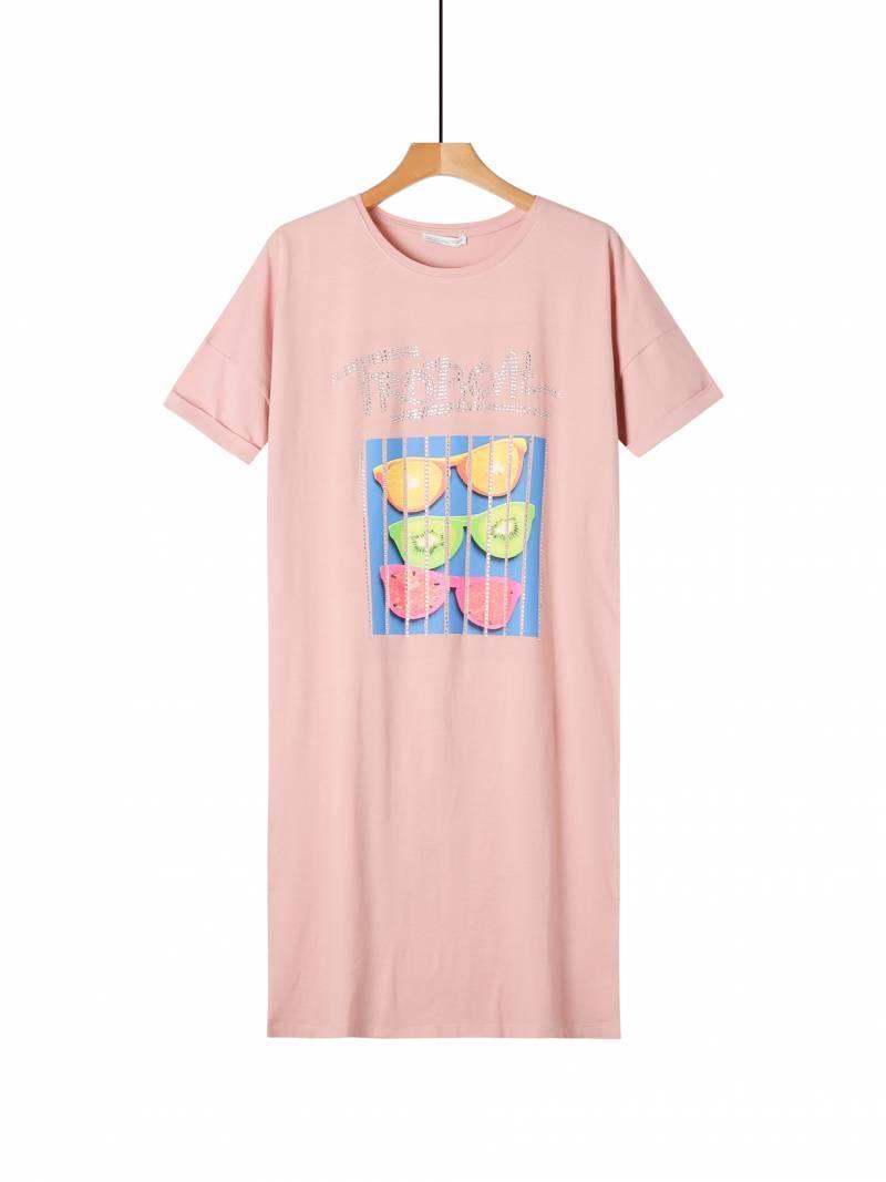 Женское удлиненное прямое платье на лето