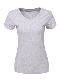 Сіра жіноча однотонна базова футболка у великому розмірі
