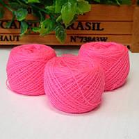 Нитки для рукоделия акриловые, 1 мм, 5 гр, ярко-розовый