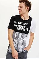 Мужская футболка Defacto / Дефакто The city that knows how Brooklyn