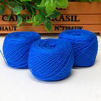Нитки для рукоделия акриловые, 1 мм, 5 гр, синий