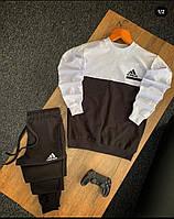 Мужской стильный спортивный костюм с фирменным логотипом, фото 1