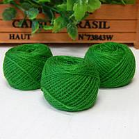 Нитки для рукоделия акриловые, 1 мм, 5 гр, зеленый