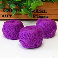 Нитки для рукоделия акриловые, 1 мм, 5 гр, пурпурный