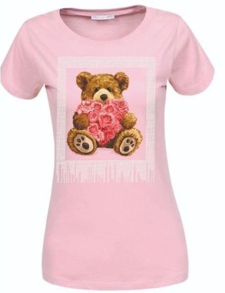 Жіноча рожева футболка з мишком