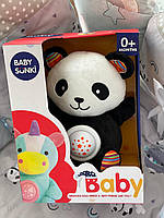 Ночник, мягкая игрушка ночник, Панда, Baby Sunki, музыка, свет 1822-5/6/7/8, фото 1