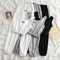 Жіночий стильний костюм штани і майка-топ, фото 1