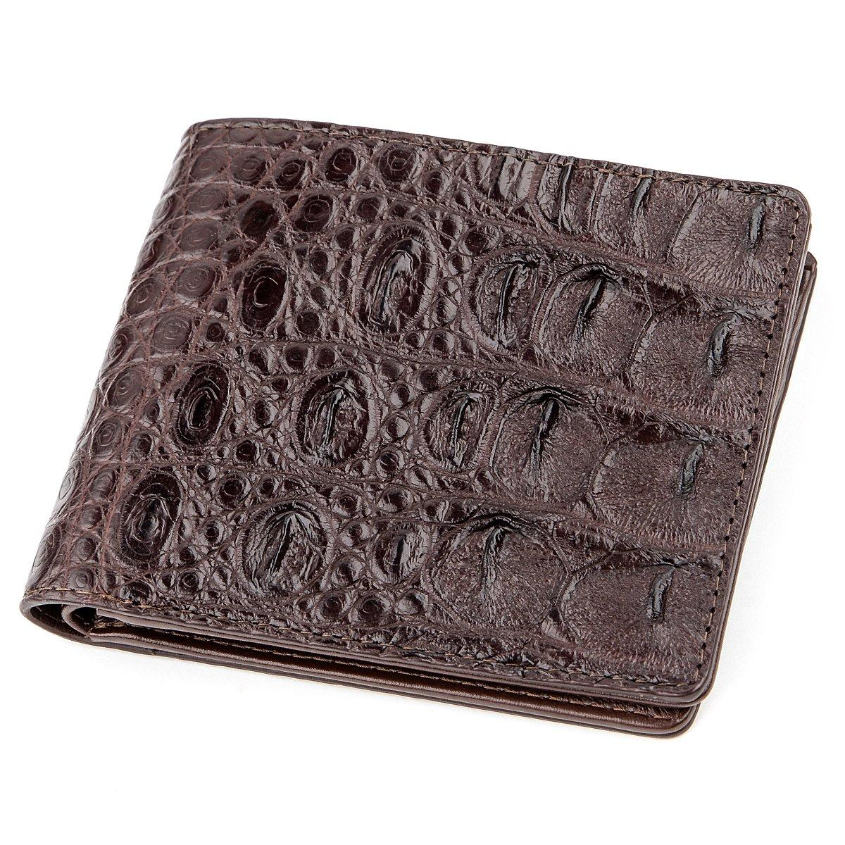 Бумажник мужской CROCODILE LEATHER 18289 из натуральной кожи крокодила Коричневый