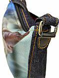 Джинсовая сумка с котом Ориентал, фото 3