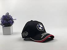 Кепка Бейсболка Чоловіча Жіноча City-A з логотипом Авто BMW БМВ Чорна, фото 2