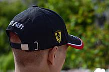 Кепка Бейсболка Чоловіча Жіноча City-A з логотипом Авто Ferrari Феррарі Чорна, фото 3