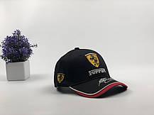 Кепка Бейсболка Мужская Женская City-A с логотипом Авто Ferrari Феррари Черная, фото 2