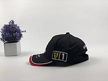 Кепка Бейсболка Мужская Женская City-A с логотипом Авто Ferrari Феррари Черная, фото 3