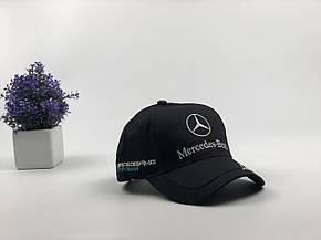 Кепка Бейсболка Мужская Женская City-A с логотипом Авто Mercedes-Benz Мерседес Черная, фото 2