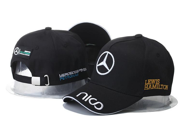 Кепка Бейсболка Мужская Женская City-A с логотипом Авто Mercedes-Benz Мерседес Nico Черная