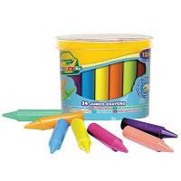 Набор для творчества Crayola 24 восковых мелка для самых маленьких в бочонке (784)