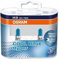 Автолампа H3 галогеновая 70W Osram 62151 Cool Blue Hyper 2 шт.