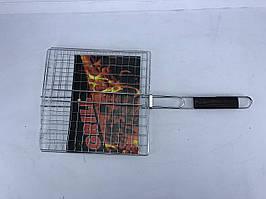 Гриль-сітка з дерев'яною ручкою 30x30