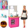 Лялька DEFA 8439-BF кухня, меблі, посуд, 2 кольори, світло, бат.-таб., кор., 25,5-32-9,5 см.