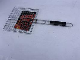 Гриль-сітка з дерев'яною ручкою 25x25