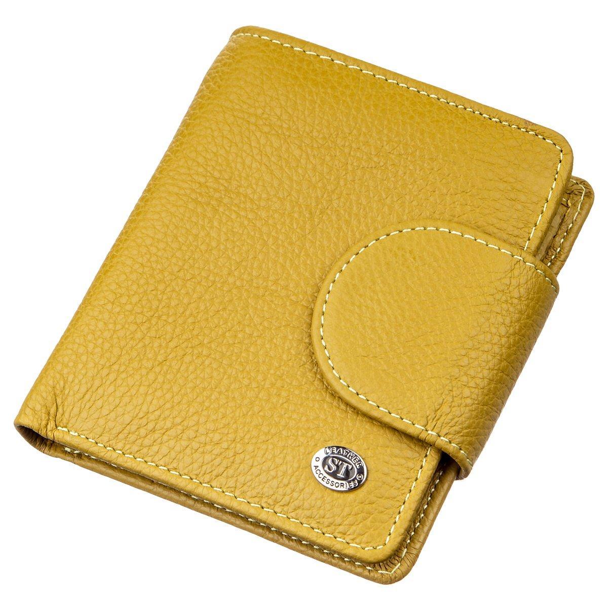 Невелика портмоне для жінок ST Leather 18924 Гірчичний