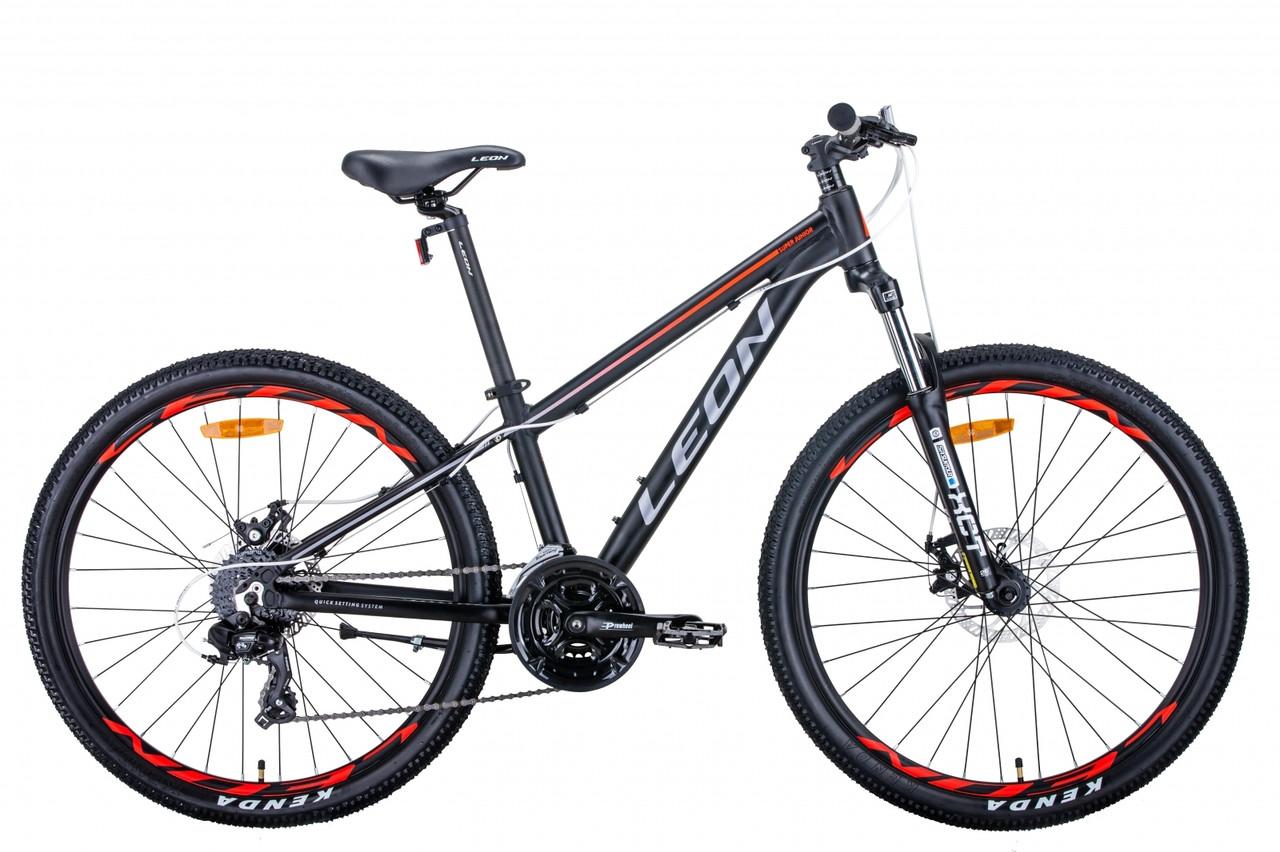 "Велосипед AL 26"" Leon SUPER JUNIOR AM DD  рама-13"" чорний"