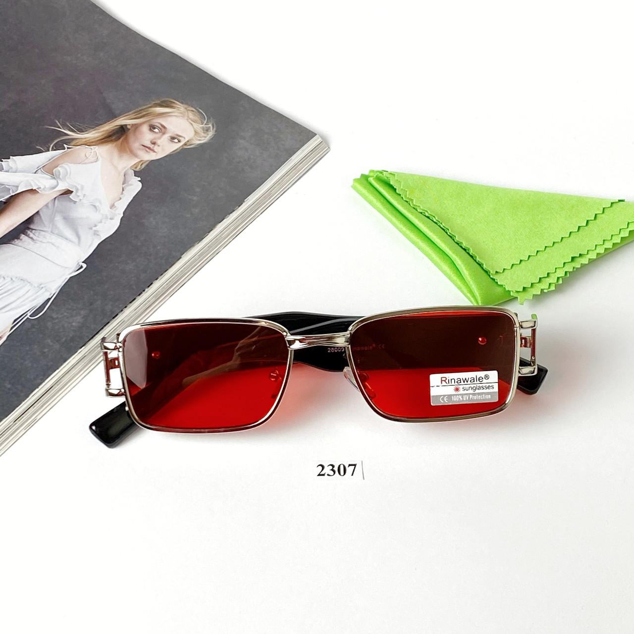 Узкие прямоугольные солнцезащитные очки