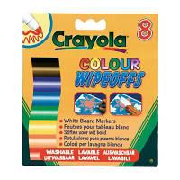 Набор для творчества Crayola 8 стираемых фломастеров для письма на доске (8223)